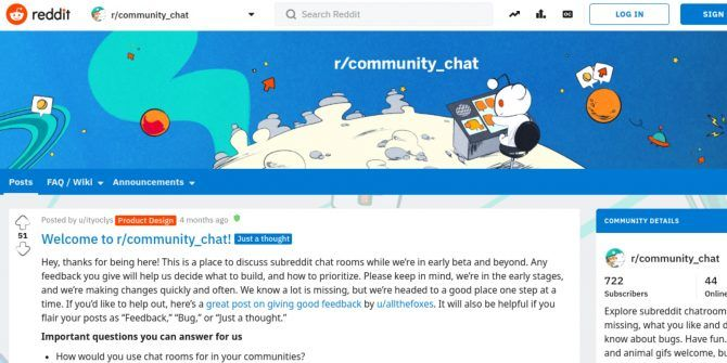 Reddit Launches Live Chat Rooms Like It's 1999