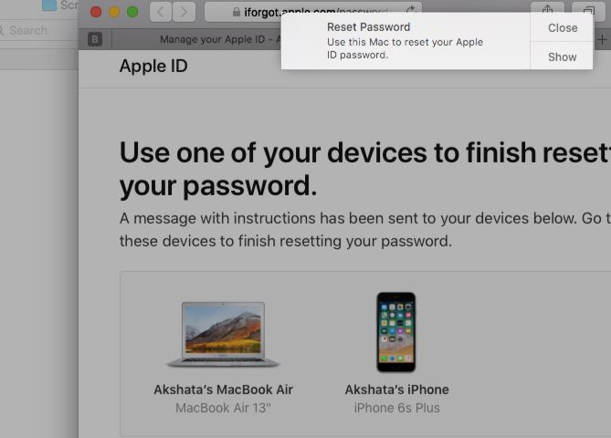 how to know my apple id password