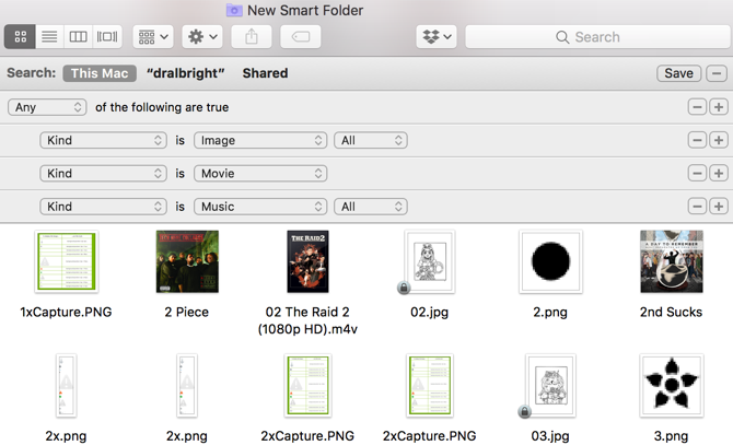 Mac Smart Folder Movie Files