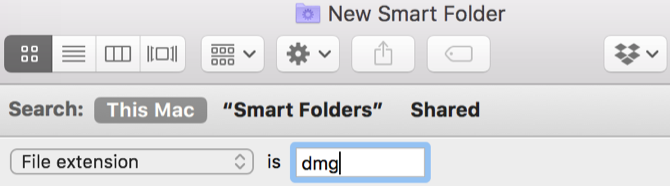 Mac Smart Folder DMG files