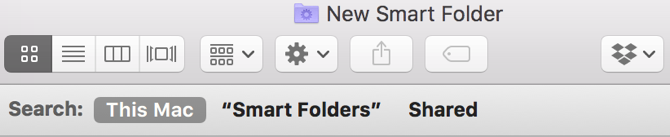 New Smart Folder Search This Mac