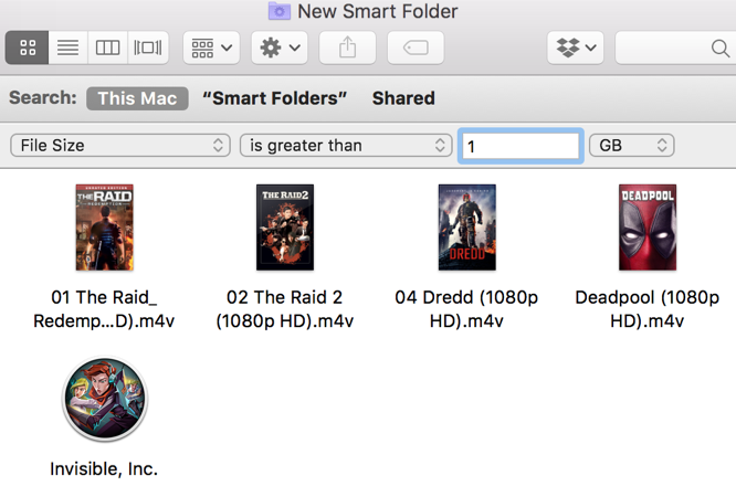 Mac Large Files Smart Folder