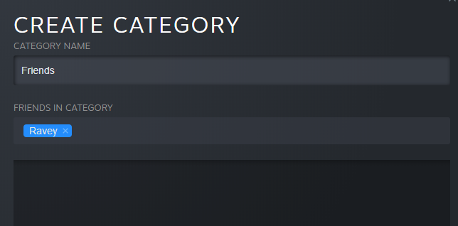 steam chat categories