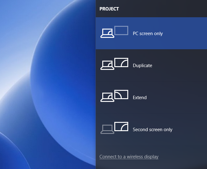 How to Project Windows 10 to TV With Miracast windows 10 miracast projectoptions