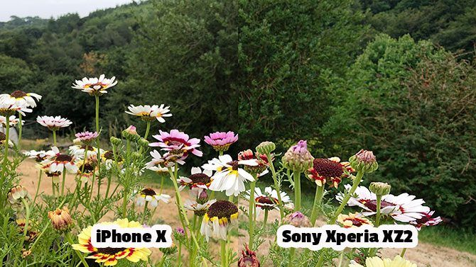 Sony Xperia XZ2 Review: Fantastic Camera, Unique Design xperia vs iphone comparison outdoors 670x377