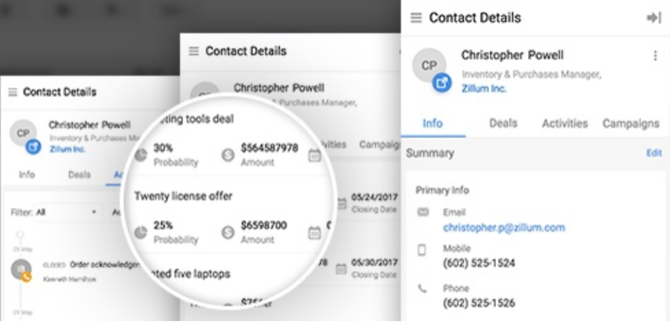 Zoho CRM Gmail extension