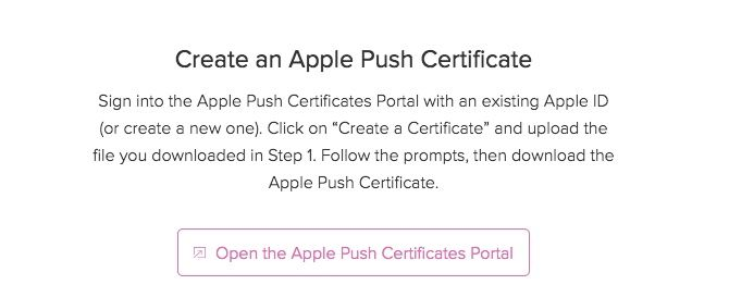 jamf now create apple push certificate