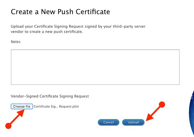 jamf now create new push certificate