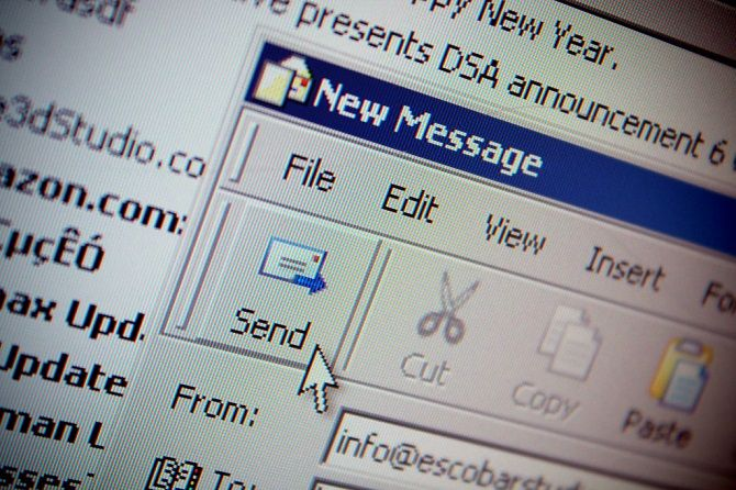 Sending a new email message