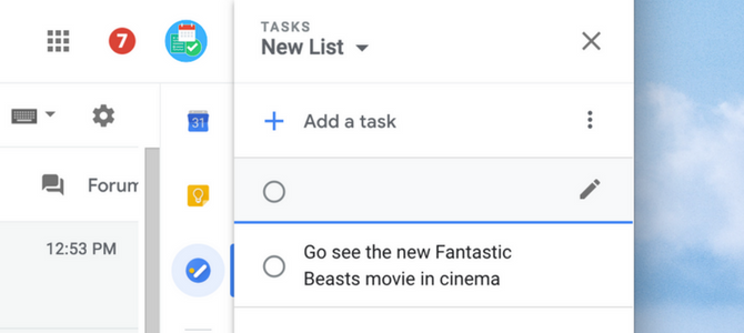 Add a New Task - Google Tasks