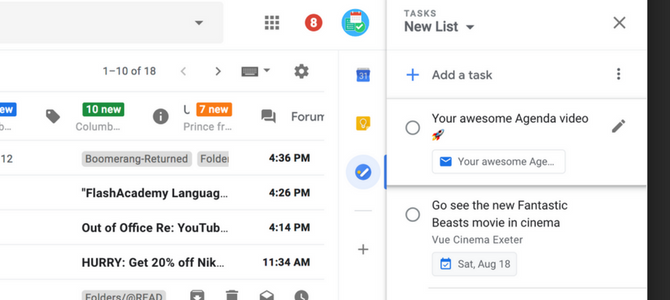 Adding Emails to Google Tasks - Google Tasks