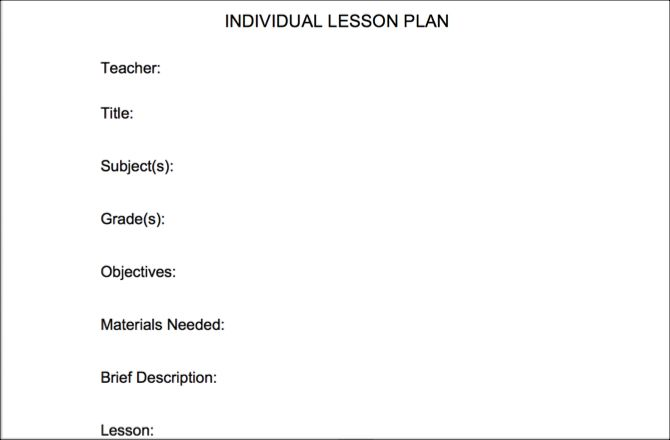 Basic Lesson Plan