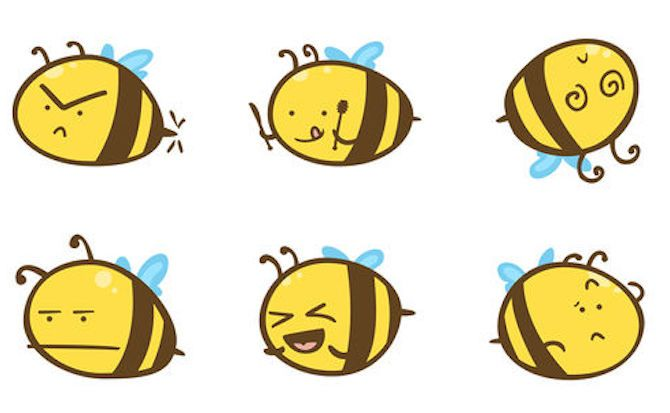 Buzz Bees iMessage Sticker Pack