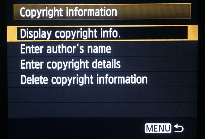 Copyright Settings