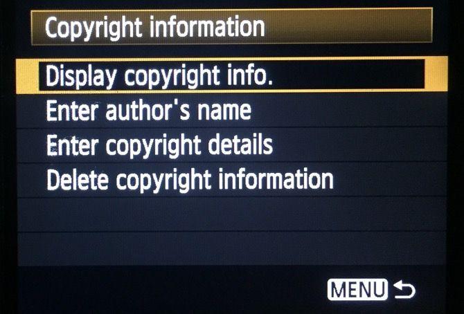Copyright Settings