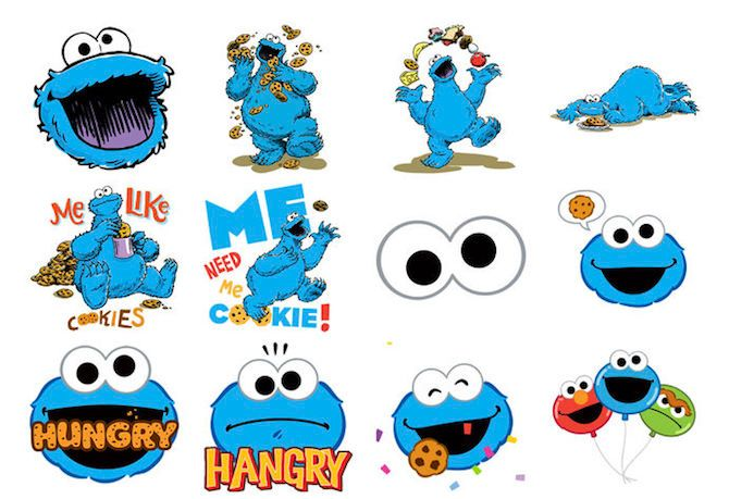 Cookie Monster iMessage Sticker Pack