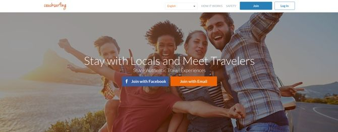 Couchsurfing: free accommodation