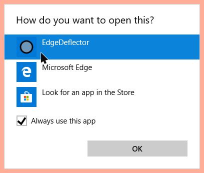 Edge Deflector Windows 10