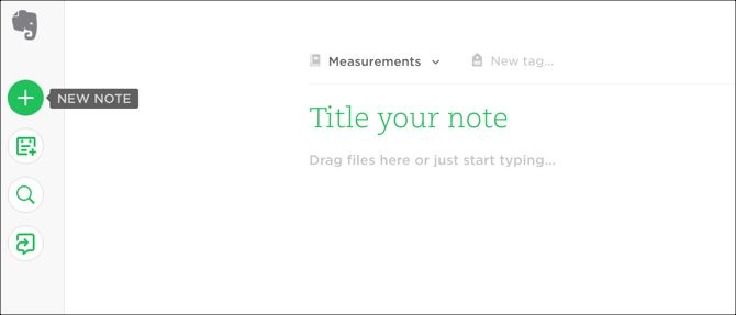 Evernote New Note