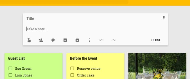 Google Keep New Note