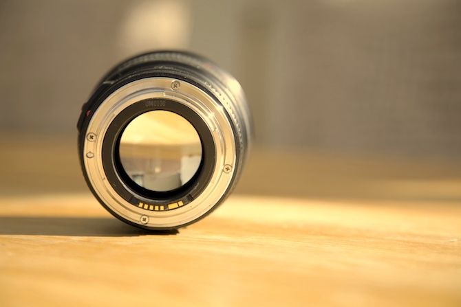 Lens on table with bad white balance
