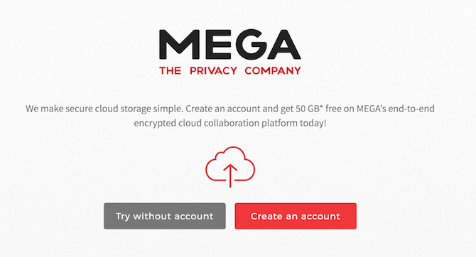 This useful website is known as Mega a cloud-storage company