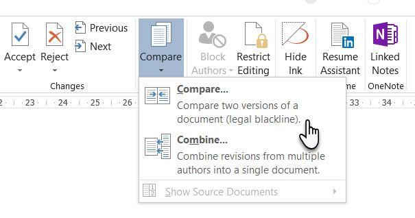 So vergleichen Sie Microsoft Word-Dokumente mit Legal Blackline