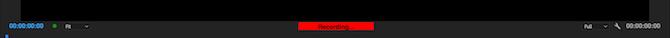 Premiere Pro recording status