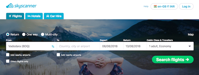 This useful website is known as Skyscanner