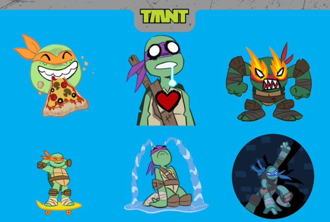 TMNT iMessage Sticker Pack