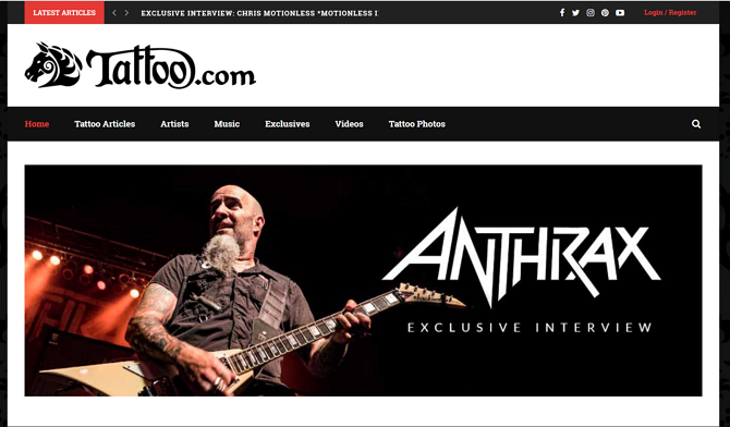 Tattoo.com Homepage