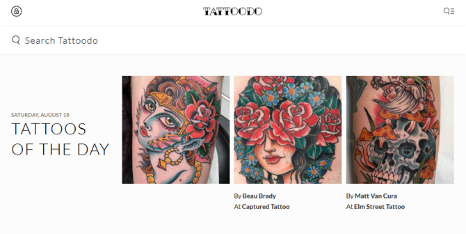 Tattoodo Homepage