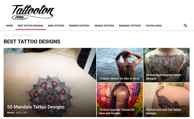Tattooton Homepage
