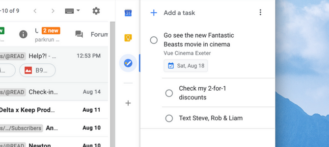 Viewing Your List - Google Tasks