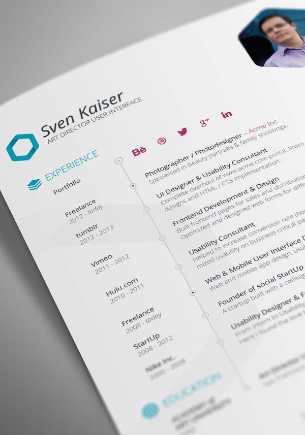 find the perfect indesign resume template to showcase your