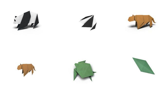 WWF Origami iMessage Stickers Pack