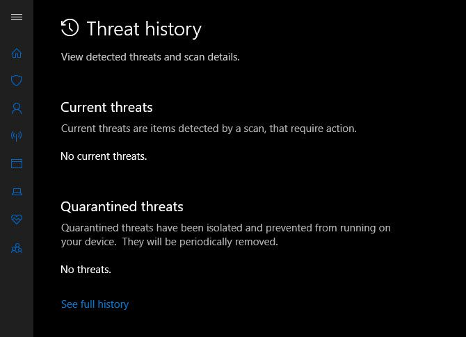 Windows-Defender-Threat-History