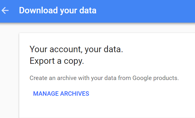 Gmail Download Your Data