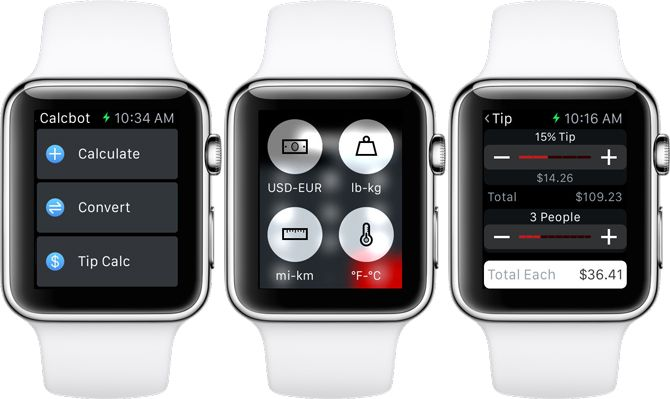 Calcbot 2 Apple Watch Calculator App