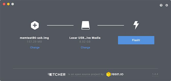 Create Bootable USB with Etcher