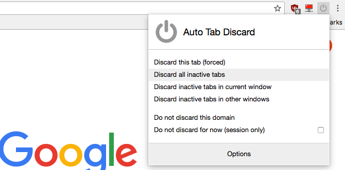 Auto Tab Discard extension for Firefox