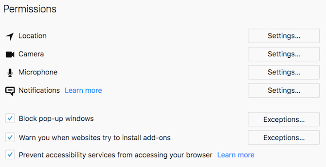 firefox disable accessibility options