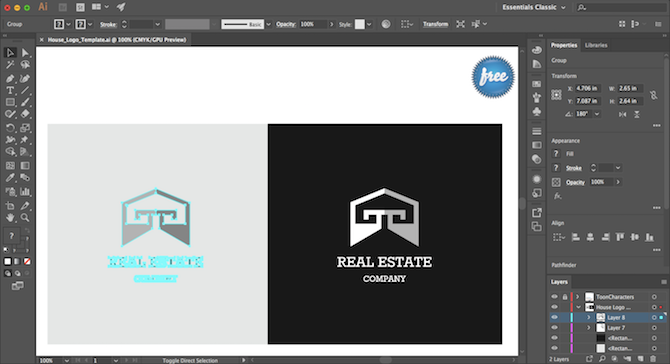 free-logo-design Illustrator Templates