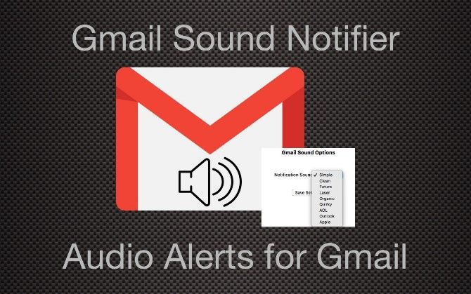 get an audio notificaiton when you receive a new email in gmail