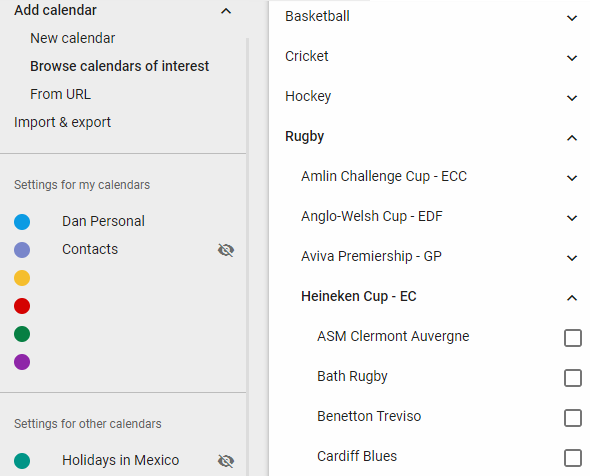 How to Download Sports Fixtures for Google Calendar google calendar sports teams