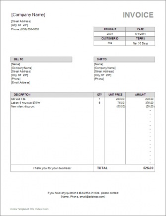 Simple Invoice Templates Every Freelancer Should Use - It invoice template