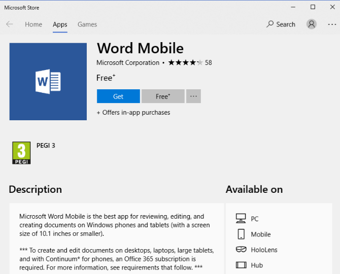 microsoft word free for pc windows 10