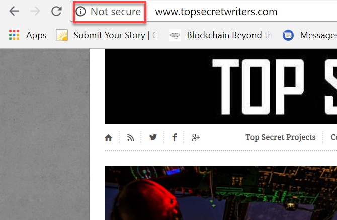 website not secure