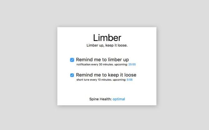 Limber for Chrome gives reminders to check posture