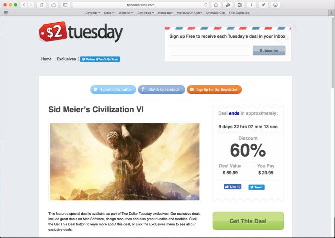 twodollartues deals website